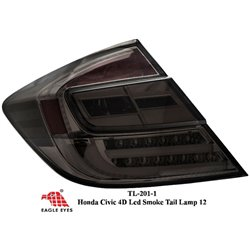 HONDA CIVIC FB 2012 - 2015 EAGLE EYES Full Smoke CGI Bar LED Tail Lamp [TL-201-1]