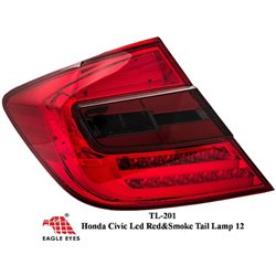 HONDA CIVIC FB 2012 - 2015 EAGLE EYES Red Smoke 4D LED Tail Lamp [TL-201]