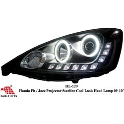 HONDA JAZZ/ FIT 2008 - 2012 EAGLE EYES CCFL LED Day Light Projector Head Lamp [HL-120]