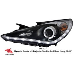 HYUNDAI SONATA YF i45 2010 - 2015 EAGLE EYES Black Housing CCFL LED Projector Head Lamp  [HL-127]