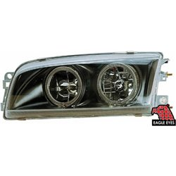 MITSUBISHI LANCER MIRAGE 1995 - 2003 EAGLE EYES BLACK CCFL LED Crystal Head Lamp [HL-025]