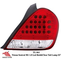NISSAN SENTRA N16 1.8 2000 - 2006 EAGLE EYES Red Clear LED Tail Lamp [TL-061]
