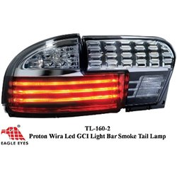 PROTON WIRA 1993 - 2006: EAGLE EYES GCi Light Bar Full Smoke Tail Lamp [TL-160-2]