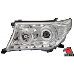 TOYOTA LAND CRUISER FJ200 2001 - 2003 EAGLE EYES LED Starline Chorme Projector Head Lamp [HL-110-2]