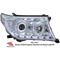 TOYOTA LAND CRUISER FJ200 2008 - 2015 EAGLE EYES CCFE Chrome Projector Head Lamp [HL-110-1]