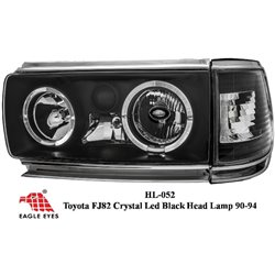 TOYOTA LAND CRUISER FJ82 1990 - 1994 EAGLE EYES BLACK CCFL/LED Head Lamp + Corner Lamp [HL-052]