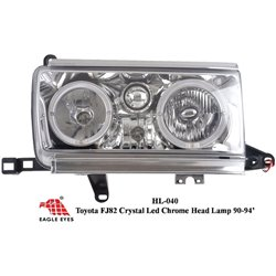 TOYOTA LAND CRUISER FJ82 1990 - 1994 EAGLE EYES Chrome CCFE LED Head Lamp + Corner Lamp [HL-040]