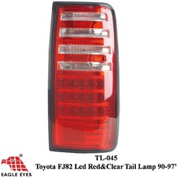 TOYOTA LAND CRUISER FJ82 1990 - 1997 EAGLE EYES Red Clear LED Tail Lamp [TL-045]