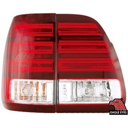 TOYOTA LAND CRUISER FJ100 1998 - 2005 EAGLE EYES Red/ Clear LED Tail Lamp [TL-100-1]