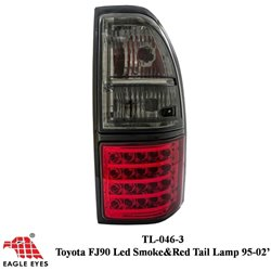 TOYOTA PRADO FJ90 1996 - 2002 EAGLE EYES Red Smoke LED Tail Lamp [TL-046-3]