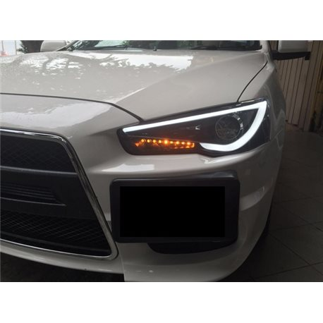 MITSUBISHI LANCER GT/ EVO X 10/ PROTON INSPIRA 2007 - 2016 EAGLE EYES A-Concept Light Bar Projector Head Lamp [TL-169-2]