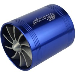 "SIMOTA 2.5"" Super Twin Fan Turbo Ventilator Spiral Jet Universal for All Air Intake Pipe Made in Taiwan"