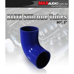 "BLITZ 90º Degree 2.5"" Inch 3 Layer Racing Elbow Silicone Tubes"