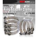 "[5 Pcs] ZAP 1.5"" - 4"" Stainless Steel Racing Ring Adapter Hose Clamp"