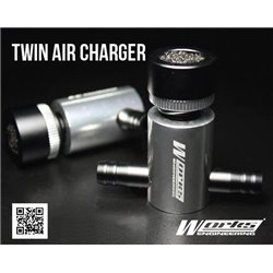 WORKS ENGINEERING Twin Ball Bearing Air Charger Universal for All N/A and Turbo Fuel Saver [W-T-AIRCHARGER]
