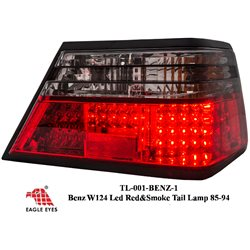 MERCEDES BENZ MASTERPIECE W124 E-Class 1885 - 1996 EAGLE EYES Smoke & Red LED Tail Lamp [TL-001-BENZ-1]