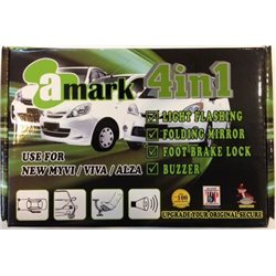 PERODUA MYVI Lagi Best 2011 - 2014 A-MARK AM-41 4 in 1 Auto Fold Mirror, Foot Brake Lock, Buzzer and Double Signal Indicator
