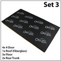 Set 3* OXYGEN AUDIO Sound Proof: (Saloon Car) 4 Doors, Roof, Floor and Rear Trunk