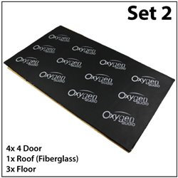 Set 2* OXYGEN AUDIO Sound Proof: (Saloon Car) 4 Doors, Roof and Floor