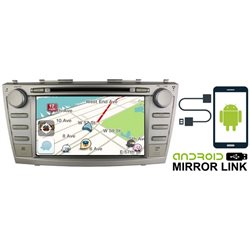 "TOYOTA CAMRY 2007 - 2011 DLAA 8"" Android Mirror Link Double Din GPS DVD MP3 CD USB SD BT TV Player Free Camera & TV Antenna"