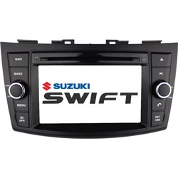 "SUZUKI SWIFT 2013 - 2017 DLAA 8"" Full HD Double Din GPS DVD CD USB SD BLUETOOTH TV Player FREE Rear Camera + TV Antenna"