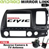 "HONDA CIVIC FD 2007 - 2011 DLAA 8"" Full HD Double Din GPS DVD VCD MP3 CD USB SD Bluetooth TV Player Free Camera & TV Antenna"