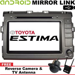 "TOYOTA ESTIMA ACR50 2006 - 2017 8"" Android Mirror Link Double Din GPS DVD MP3 CD USB SD BT TV Player Free Camera & TV Antenna"