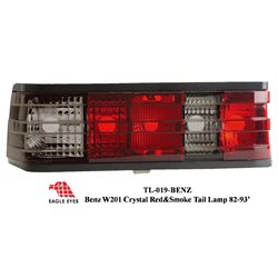 MERCEDES BENZ W201/ 190E C-Class 1982 - 1993 EAGLE EYES Red/ Smoke Tail Lamp [TL-019-BENZ]