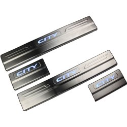 HONDA CITY 09 DStainless Steel LED Door Side Sill Step Made In Taiwan