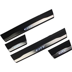 HONDA CITY GM6 2014 - 2017 OEM Plug & Play Stainless Steel Blue LED Door Side Sill Step Plate Made In Taiwan (S1)