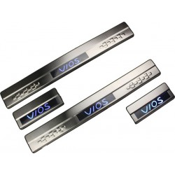 TOYOTA VIOS 2007 - 2012 Stainless Steel LED Door Side Sill Step Made In Taiwan
