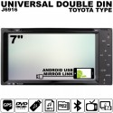 """SKY AUDIO 7"""" Full HD Double Din DVD VCD MP3 CD USB SD Bluetooth TV Player with Android Mirror Link & 6 CD Recorder [J6916]"""