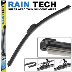RAIN-TECH Aerodynamic Silicone Wiper Blade Made in Taiwan [1 Pair]
