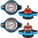 D1 SPEC 1.1, 1.3 Bar Big & Small Thermo Racing Radiator Cap with Water Temperature Meter