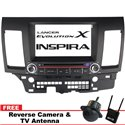 "MITSUBISHI LANCER GT/ Sportback/ PROTON INSPIRA DLAA 8"" Double Din GPS DVD MP3 CD USB SD BLUETOOTH TV Player Free Camera & TV"
