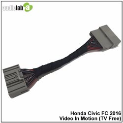 HONDA CIVIC FC 1.5T/1.8 2016 - 2017 AUDIOLAB Park Brake Bypass Cable Video In Motion TV Free Plug and Play Socket Cable [AL-162]