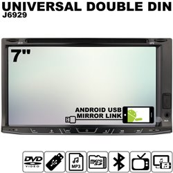 "SKY AUDIO 7"" Full HD Double Din DVD VCD MP3 CD USB SD Bluetooth TV Player with Android Mirror Link & 6 CD Recorder [JTM-6929]"
