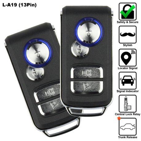 SKY 13 Pin 4-Button Multi Function Car Alarm System Made in Korea [L-A19-13PIN]