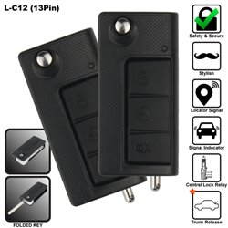 SKY 13 Pin 3-Button Multi Function Car Alarm System with In-Built Fold Key Made in Korea [L-C12-13PIN]