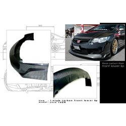 HONDA CIVIC FD2R TYPE-R 2006 - 2011 JS RACING Style Super Light Weight Real Carbon Fiber Front Lips Skirt [FD C021]
