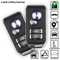 SKY 4-Button 13 Pin Full Set Multi Function Car Alarm System with Shock Sensor and Siren [L-A19-FULL]