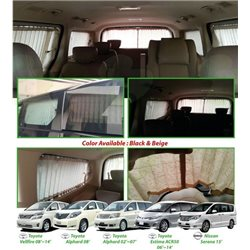 HYUNDAI GRAND STAREX 5 Pcs Premium OEM Car Curtain (Black or Beige) [AL]