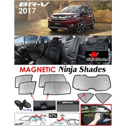 HONDA BRV NINJA SHADES UV Proof Custom Fit Car Door Window Magnetic Sun Shades (7pcs)