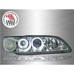 HONDA ACCORD 1998 - 2002 EAGLE EYES Chrome Housing CCFL LED Light Ring Projector Head Lamp [HL-032-2]