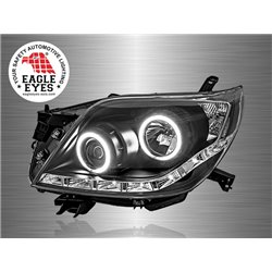 TOYOTA PRADO FJ150 2009 - 2015: EAGLE EYES DRL Black Projector Head Lamp [HL-143]