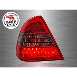 MERCEDES BENZ W202 1994 - 1999 EAGLE EYES Red/ Smoke LED Tail Lamp [TL-010-1-BENZ]