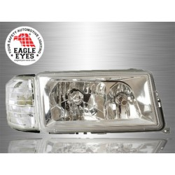 MERCEDES BENZ W124 E-CLASS 1984 - 1995 EAGLE EYES Chrome Housing Reflecter Head Lamp with Corner Light [HL-005]