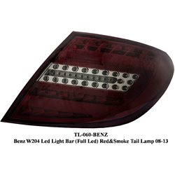 MERCEDES BENZ W204 C-CLASS 2007 - 2014 Red Smoke LED Light Bar Tail Lamp Light [TL-060]