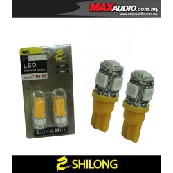 SHILONG T10 Super Bright 1W Yellow 5 LED Bulb (Headlamp, Signal, Carplate)