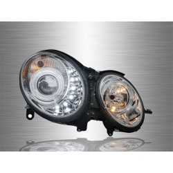 MERCEDES BENZ W211 E-CLASS 2002 - 2007 LED DRL Projector Head Lamp Light [HL-045-BENZ]